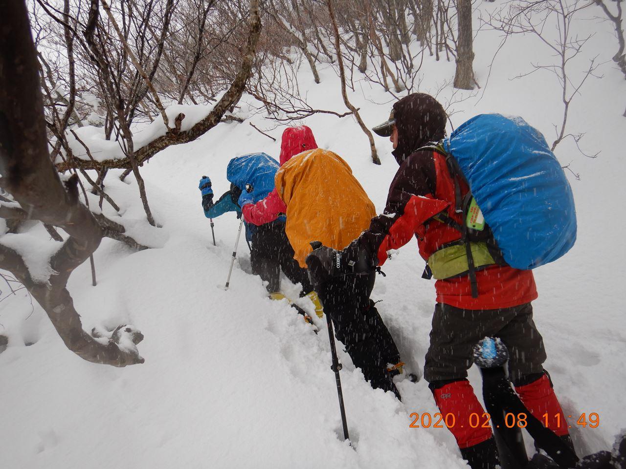 【例会山行】湖北乗鞍岳(2020.02.08)