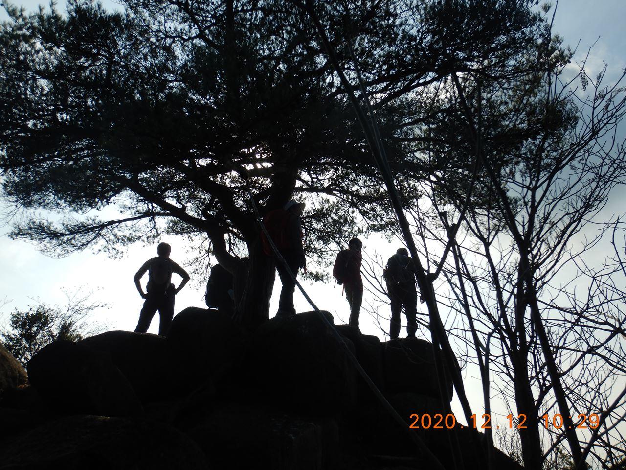 【個人山行】六甲山.黒岩、黒五谷、北黒五山、黒岩谷(2020.12.12)